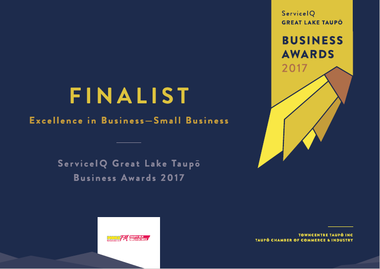 Greatlake Taupo Business Awards Finalist